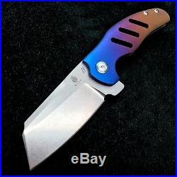 Kizer Sheepdog Ki4488 Flipper Frame Lock Knife 3.6 Wyo Sunrise BWL Custom