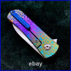 Kizer Yorkie Ki3525A1 Frame Lock Knife 3.3 Flomascus Pattern BWL Custom