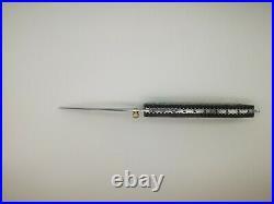 Knife Abalone handle 8.6, damascus Blades