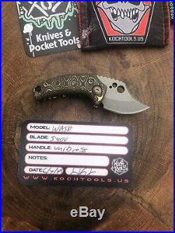 Koch Tools & Knives Wasp Knife UniBrass Handles Brand New