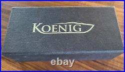 Koenig Knives Arius Gen 4 M390 Titanium Scales And Blue Hardware