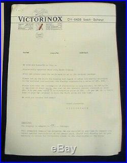 LK Vintage Victorinox Swiss Army Knife Mechanical Display / Instructions Works