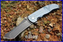 Last One! Rare M390 Blades Blue Anodized Titanium Tactical Pocket Knife Knives