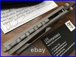 Lee Knifeworks Custom Virago Folding Knife Damascus Blade Titanium Handles