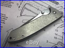 Les George VECP Mid-Tech Folder 3.5 CTS-XH titanium Knife 3.5 SteelFlame clip