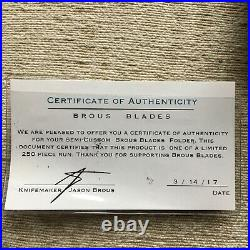 Limited Edition BROUS BLADES & SNODY Collaboration Blade Ante Up Model