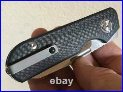 Liong Mah Design Traveler Sheepsfoot Slip Joint Carbon Fiber 2.7 Satin M390
