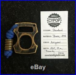 Lucas Burnley BRNLY Cypop Brass. 375 Triple Stamp 505 Beardy Zia Bottle Opener