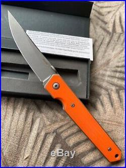 Lucas Burnley BRNLY Knives Kwaiken RARE ORANGE G10 Linerlock Flipper NEW