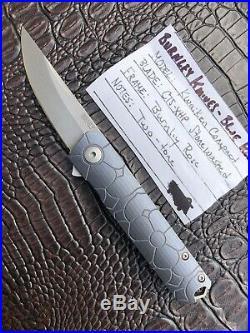 Lucas Burnley Knives CUSTOM Kwaiken Compact Knife BRNLY Rose Pattern