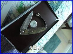 Luxury Custom William Henry Titanium Damascus Folder Pocket Knife Vintage Knives