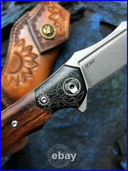 M390 Blade Folding Knife Tactical Rescue Survival Flipper Ceramic Ball Bearing