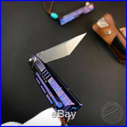 M390 Blade Folding Knife Tactical Rescue Survival Flipper Tanto Titanium Alloy