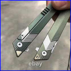 M390 Blade Sandvik Folding Knife Tactical Rescue Survival Flipper Tanto Titanium