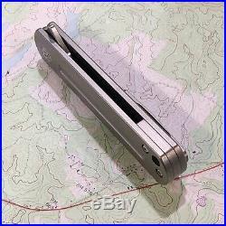 MBK Laconico EZC Flipper CPM S35VN, 6AL4V Titanium Framelock Folder