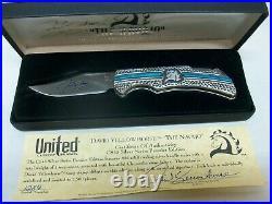 MIB David Yellowhorse The Navajo CS45 Silver 925 Sterling Folding Knife #1284