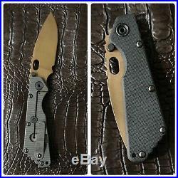 MSC Mick Strider Customs Knives SMF Copper Beryllium CuBe Spearpoint Blade