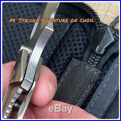 MSC Mick Strider Knives Custom SMF XL Factory Stock Orange Peel Finish