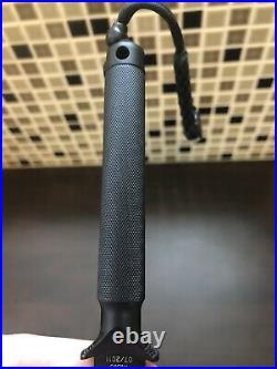 Marfione custom Microtech ADO Drop Point Black Knife