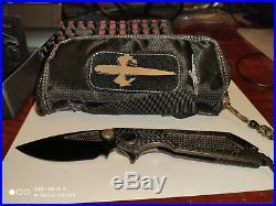 Marfione custom knives Model Death on contact blade DLC stonewashed-ELMAX blade