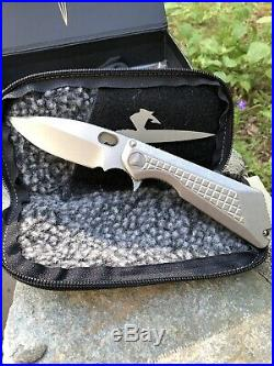 Marfionestrider Custom Msg-3 Frag Knife Apocalyptic Titanium Frame M390 Blade