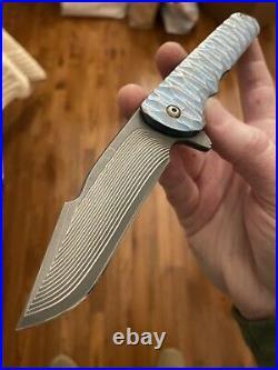 Matt Cucchiara Full Custom Flashbang PROTOTYPE Flipper Folding Knife RARE