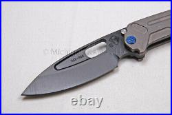 Medford Knife Infraction with S35-VN and Titanium handles Tumbled (215)