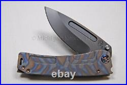 Medford Knife Marauder-H with CPM-3V Drop Pt. & Titanium Hdw (Flamed) (109)