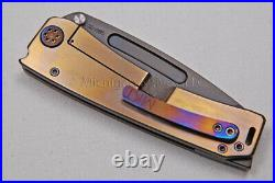Medford Knife Marauder-H with & Ti Handles (Flm/Faced) and Ti Hdw (Flamed) (311)