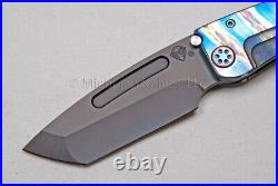 Medford Knife Marauder-H with & Ti Handles (Flm/Faced) and Ti Hdw (Flamed) (312)