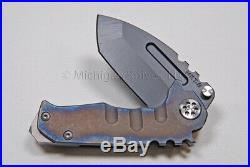 Medford Knife Micro Praetorian with S35-VN and Titanium Handles (flamed) (132)
