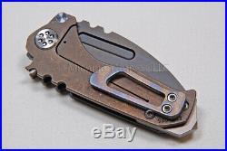 Medford Knife Micro Praetorian with S35-VN and Titanium Handles (flmd/brz) (129)