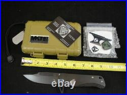 Medford Knife Proxima with CPM S35VN SS & Ti Handles & Ti Hdw Flamed 92-009 MINT