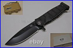 Medford Knife USMC-FF with CPM S35-VN, PVD handles & Titanium HDW (Flamed) (151)