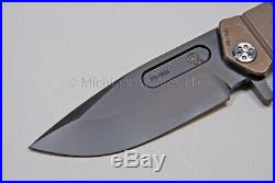 Medford Knife USMC-FF with CPM S35-VN, Ti Handle (Bronze/PVD), Flamed clip (105)