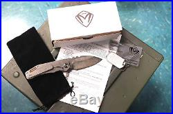 Medford Knife and Tool 187F D2 Coyote G10 & Titanium Vulcan