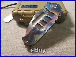 Medford Knife and Tool Praetorian Ti-Spectrum Shooting 1 of 1-S35VN Drop Point
