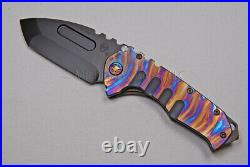 Medford Praetorian T Knife DP with S35-VN & Ti Handles with Ti Hdw (Blue) (340)