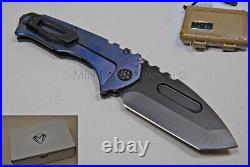 Medford Praetorian T Knife Tanto with S35-VN & Faced Ti Handles (Blue) (194)