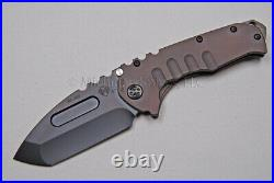 Medford Praetorian T Knife Tanto with S35-VN & Ti Handles with Ti Hdw (PVD) (343)