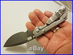 Mick Strider Custom MSC Performance Series PT Folding Knife Industrial Finish