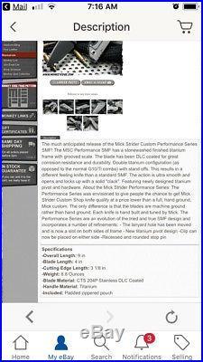 Mick Strider Custom SMF DLC/Stonewash