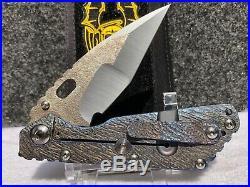 Mick Strider Custom SMF Hissatsu grind textured blade folding knife
