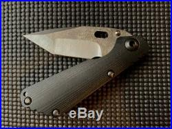 Mick Strider Custom SnG Nightmare Tanto Grind Concealed Carry Textured/Molten