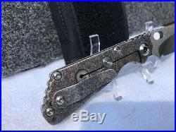 Mick Strider Custom SnG textured folding knife CPM 3V tanto blade