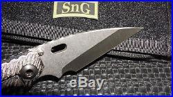 Mick Strider Custom Sng Custom Flamed Ti Black G10 Warncliff SW Tooled Knife