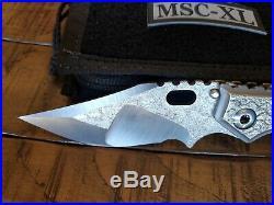 Mick Strider Custom XL Nightmare grind folding knife
