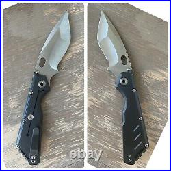 Mick Strider Customs MSC Custom XL Folding Knife Stealth Nightmare Hand Grind