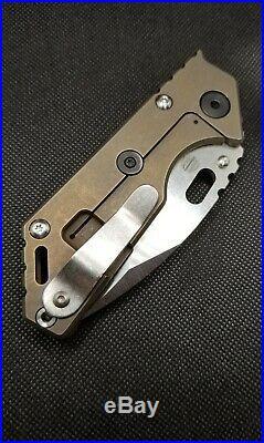 Mick Strider Knives 3/4 AR. 75 S35VN Dual 6al4v Titanium Scales