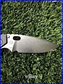 Mick Strider Knives SMF Hybrid GG Stonewashed Gunner Grips- NEW